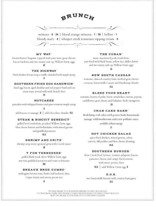 Nashville Brunch Blog: THE SOUTHERN Steak & Oyster | CHORD